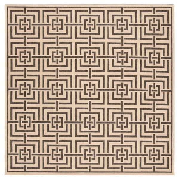 Safavieh Linden Modern & Contemporary Cream / Black Rug - 6' Square