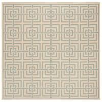 Safavieh Linden Modern & Contemporary Cream / Aqua Rug - 6' Square
