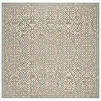 "Safavieh Linden Modern & Contemporary Aqua / Cream Rug - 6'7"" x 6'7"" square"