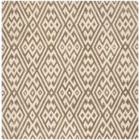 Safavieh Hand-Tufted Cambridge Modern & Contemporary Ivory / Grey Wool Rug - 6' Square
