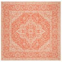 Safavieh Linden Modern & Contemporary Rust / Cream Rug - 6' Square