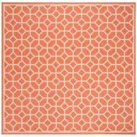 """Safavieh Linden Modern & Contemporary Rust / Cream Rug - 6'7"""" x 6'7"""" square"""