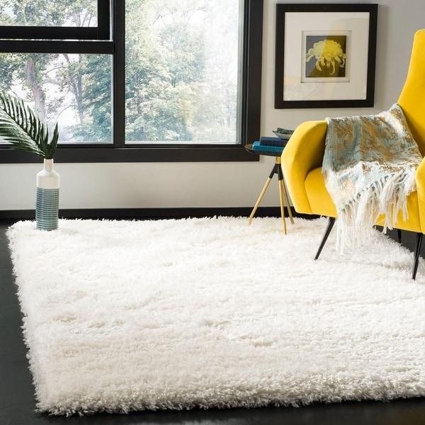 "Safavieh Flokati Shag Modern & Contemporary Ivory Polyester Rug - 5'3"" x 7'6"""