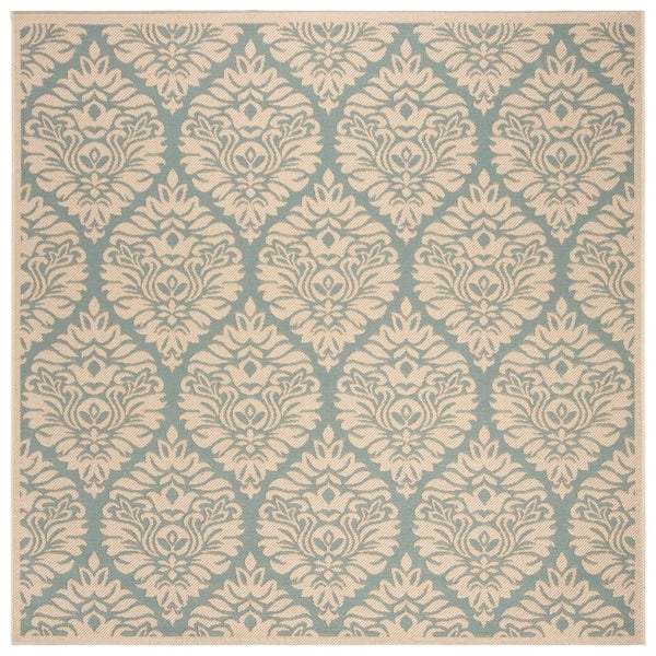 Safavieh Linden Modern & Contemporary Aqua / Cream Rug (6'7' Square)