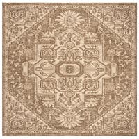 "Safavieh Linden Modern & Contemporary Cream / Beige Rug - 6'-7"" X 6'-7"" Square"