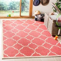 "Safavieh Linden Modern & Contemporary Red / Cream Rug - 5'1"" x 7'6"""