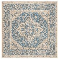 Safavieh Linden Modern & Contemporary Blue / Cream Rug - 6' Square
