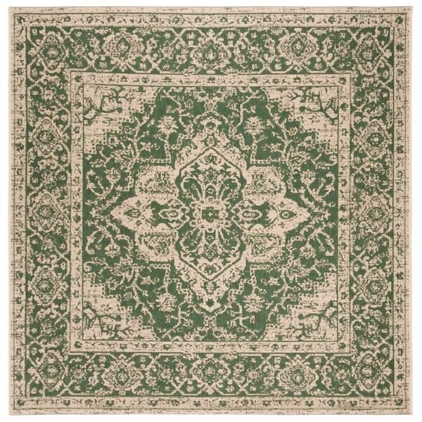 Safavieh Linden Modern & Contemporary Green / Cream Rug - 6' Square