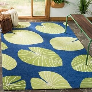 Martha Stewart by Safavieh Hand-hooked Lily Pad Rug (4 x 6 - Azurite)