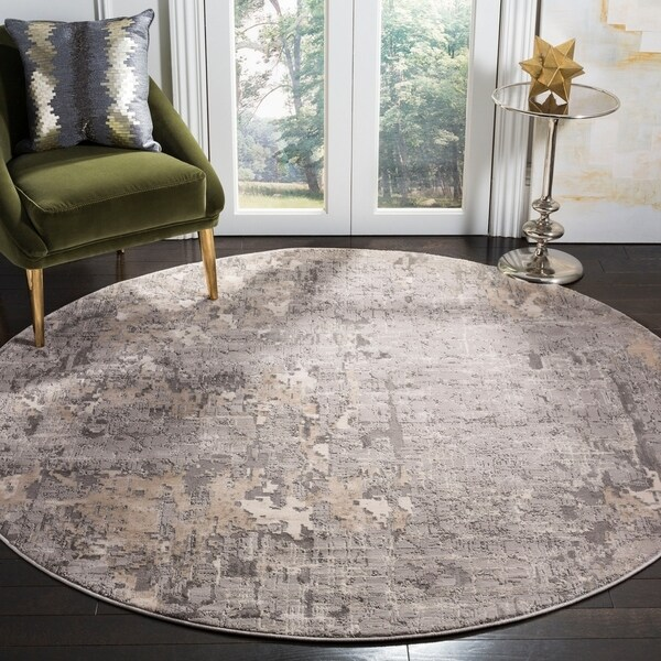 Safavieh Meadow Modern & Contemporary Grey Rug (6'7' Round)