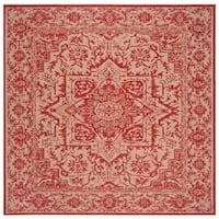 Safavieh Linden Modern & Contemporary Red / Cream Rug - 6' Square