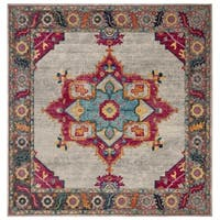 "Safavieh Merlot Modern & Contemporary Cream / Multi Rug - 6'7"" x 6'7"" square"