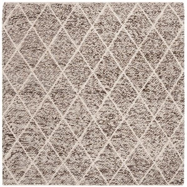 Safavieh Hand-Woven Natura Southwestern Ivory / Stone Wool Rug - 6' Square