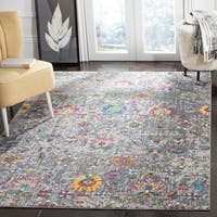 Safavieh Merlot Modern & Contemporary Grey / Multi Rug - 7' Square