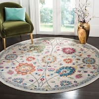 Safavieh Merlot Modern & Contemporary Cream / Multi Rug - 7' Round