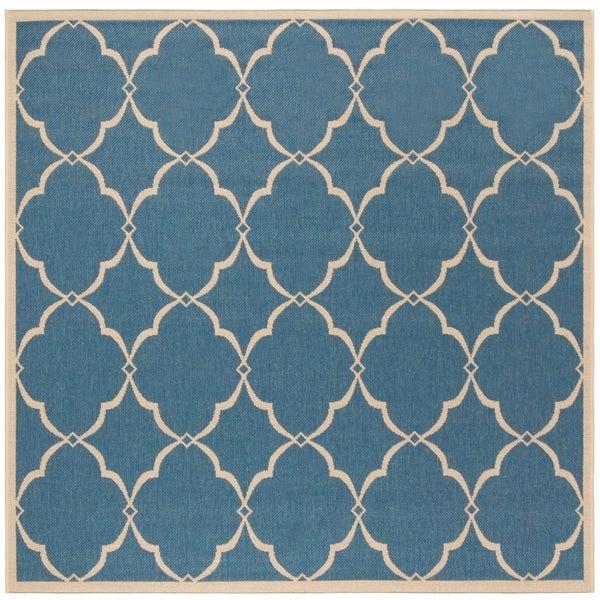 Safavieh Linden Modern & Contemporary Blue / Cream Rug - 6' Square