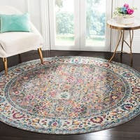 Safavieh Merlot Modern & Contemporary Grey / Multi Rug - 7' Round
