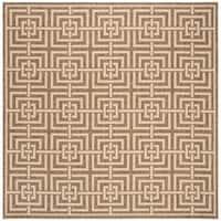 "Safavieh Linden Modern & Contemporary Beige / Cream Rug - 6'7"" x 6'7"" square"