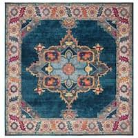 Safavieh Merlot Modern & Contemporary Blue / Multi Rug - 7' Square