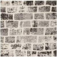 Safavieh Memphis Shag Grey / Cream Rug - 6' Square