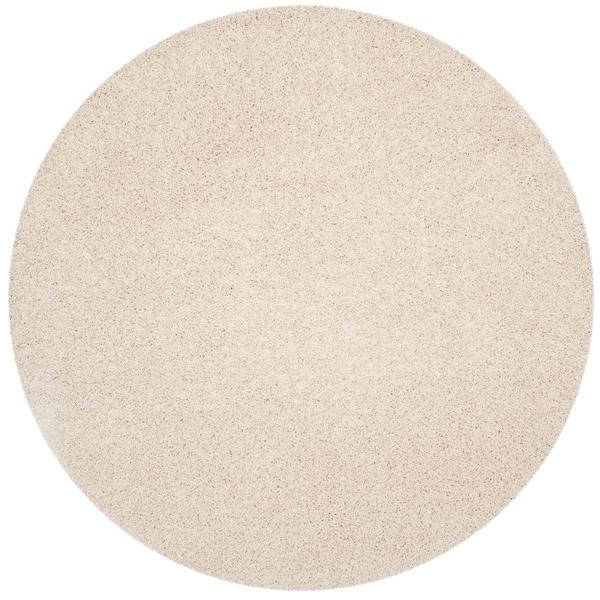 Safavieh Athens Shag Casual White Rug - 7' Round