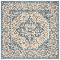 Safavieh Linden Modern & Contemporary Cream / Blue Rug - 6' Square