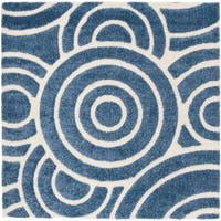 Safavieh Memphis Shag Blue / Cream Rug - 6' Square