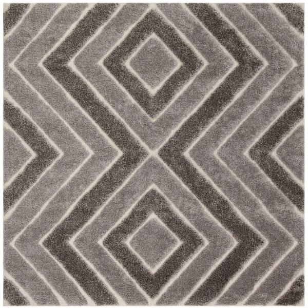 Safavieh Memphis Shag Taupe / Grey Rug - 6' Square