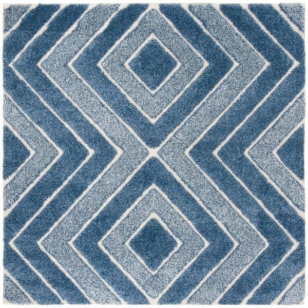Safavieh Memphis Shag Blue Rug - 6' Square