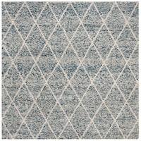 Safavieh Hand-Woven Natura Southwestern Ivory / Blue Wool Rug - 6' Square