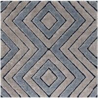 Safavieh Memphis Shag Grey / Blue Rug - 6' Square