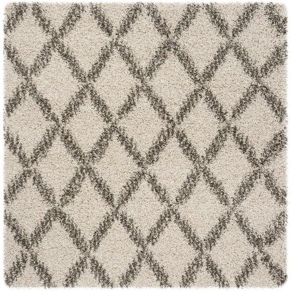 Safavieh Hudson Shag Ivory / Grey Rug - 7' Square