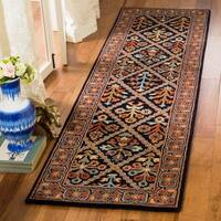 Safavieh Hand-Tufted Heritage Traditional Navy / Red Wool Runner Rug - 2'3' x 8'