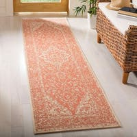 Safavieh Linden Modern & Contemporary Rust / Cream Runner Rug - 2' x 8'