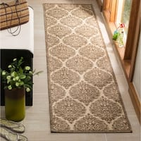 Safavieh Linden Modern & Contemporary Cream / Beige Runner Rug - 2' x 8'