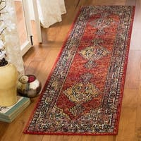 "Safavieh Savannah Bohemian & Eclectic Red / Red Polyester Runner Rug - 2'3"" x 8'"