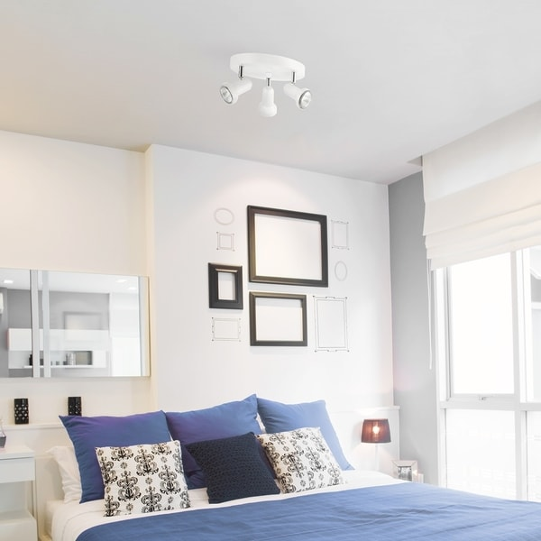 Melo 3-Light Track Light Canopy, White Finish, Bulbs Included. Opens flyout.