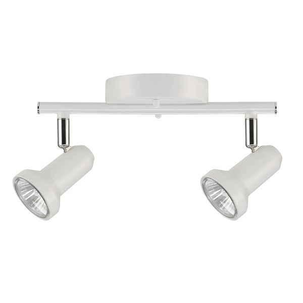 Melo 2 light track lighting glossy white finish bulbs included