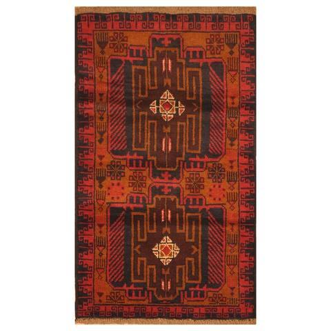 Handmade One-of-a-Kind Balouchi Wool Rug (Afghanistan) - 2'8 x 4'8
