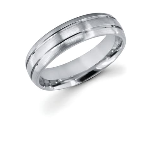 Men's Titanium Double Channel 6mm Wedding Band Ring
