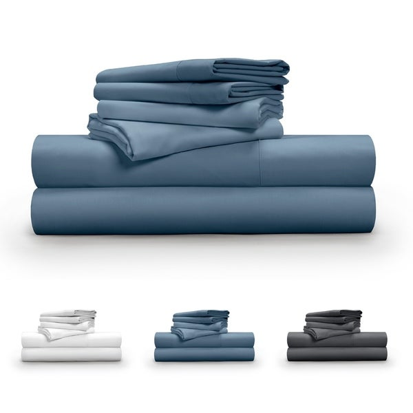 04ff605c8e05 Shop Pillow Guy MicroTencel 600 Thread Count 6-Piece Sheet Set - On ...