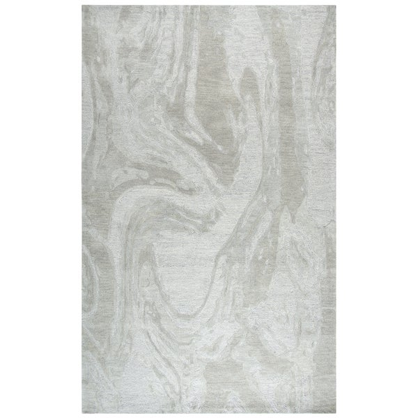 Shop Rizzy Home Fifth Avenue Grey Wool Handmade Area Rug