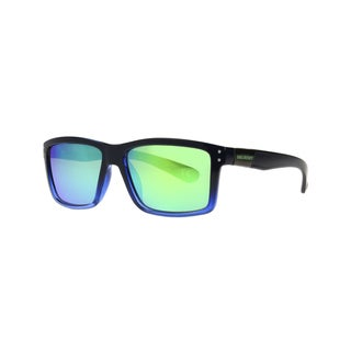 Anarchy Ari Men's Black/Blue Fade Frame with Mirrored Lens Polarized Sunglasses - Black - Medium