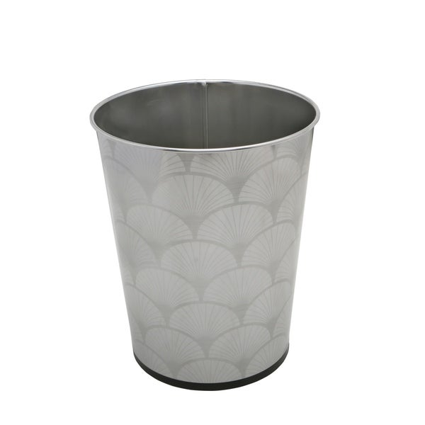 Shop Bath Bliss 5l Trash Can With Scallop Design Free
