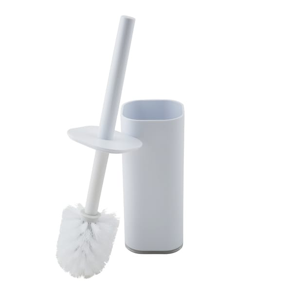 Bath Bliss Acrylic Cylinder Toilet Brush Set in White