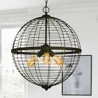 Caesar Oil Rubbed Bronze 3-Light Foyer Pendant