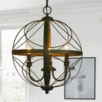 Hercules Oil Rubbed Bronze 3-Light Foyer Pendant