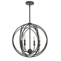 Lancelot Oil Rubbed Bronze 4-Light Globe Cage Pendant