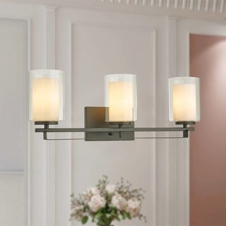 Constance Oil Rubbed Bronze 3-Light Wall Sconce with Dual Glass Tube Shade