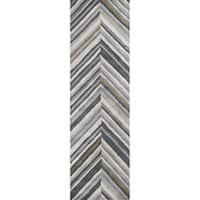 Rizzy Home Marianna Fields Grey Handmade Wool Rug - 8' x 10'